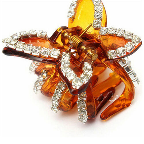 New Women Butterfly Crystal Rhinestone Claw Hairpin Hair Clip Clamp Accessory BH