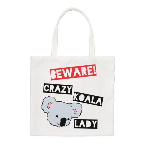 Beware Crazy Koala Lady Regular Tote Bag Australia Australian Funny
