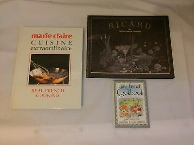 3x French Cooking Cook Books Marie Claire Cuisine Ricard