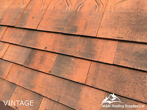 Image Is Loading New Machine Made Clay Roof Tiles Vintage Plain