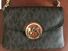 1d08646c0 item 1 MICHAEL Michael Kors Signature Small Fulton Flap Gusset Crossbody  Brown -MICHAEL Michael Kors Signature Small Fulton Flap Gusset Crossbody  Brown