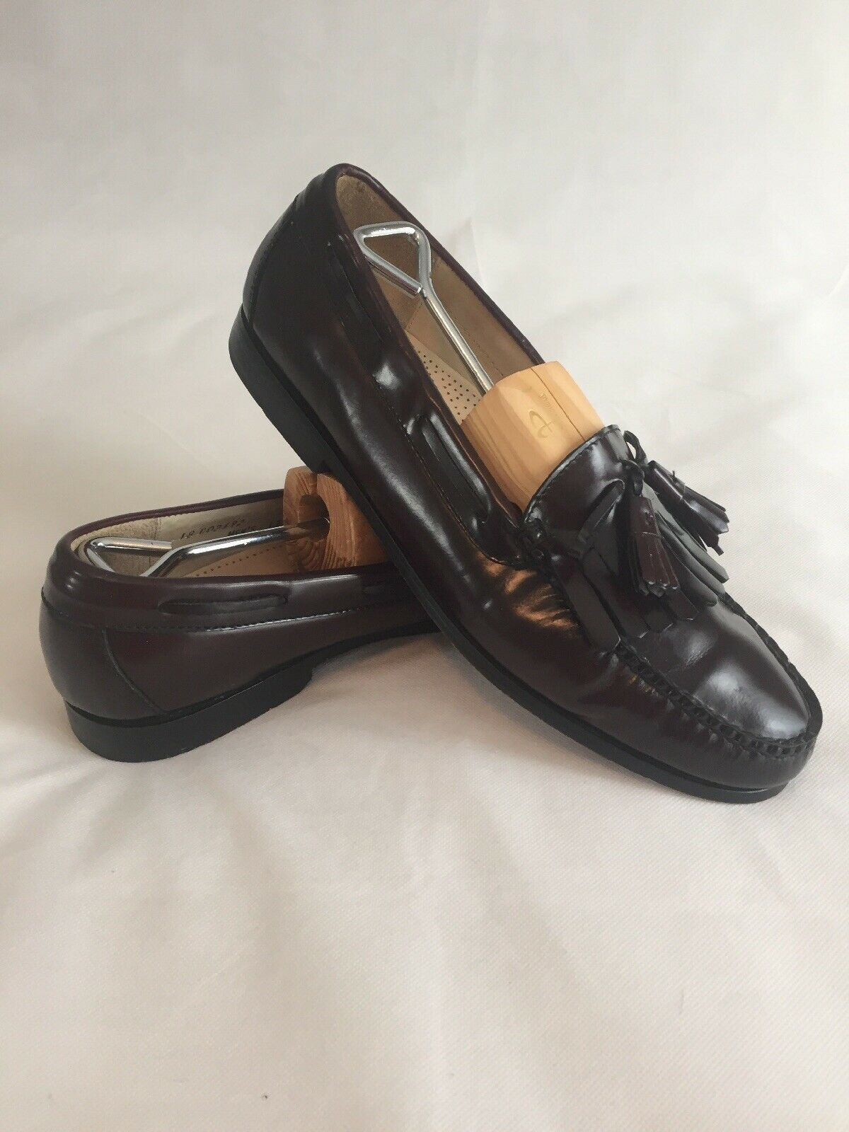 Cole Haan Men's Loafers shoes 12D Pinch Tassel Burgundy Oxblood Leather C02692