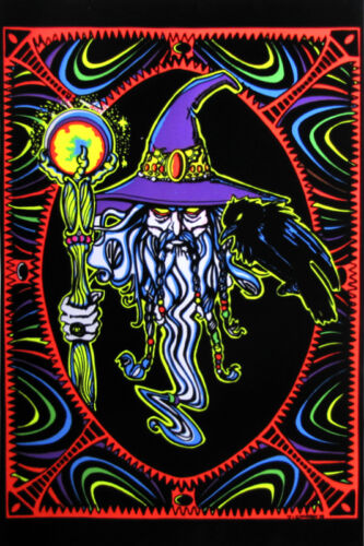 WIZARD BLACK LIGHT 23x35 poster MAGIC POWERS LORD OF RINGS HARRY POTTER COLORFUL
