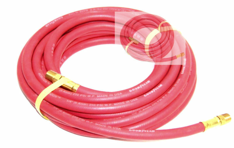 2 NEW 25 Ft 1 4  continental Rubber Air Hose