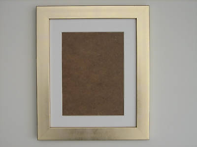 Brown 10x12 Photo  Picture Frame  Mount 7.75x9.75  Hang