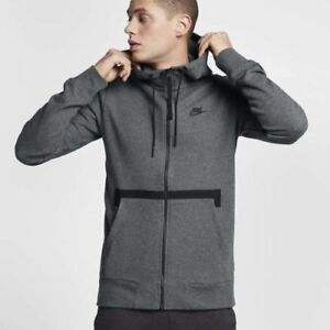 82414ad8312c Details about Nike Sportswear Air Force 1 Men s Full Zip Hoodie L Gray  Black AF1 Gym New