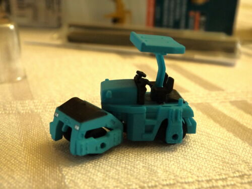 N Scale Fujimoto Sakai GW750 Road Bed Compactor Blue Construction Equipment