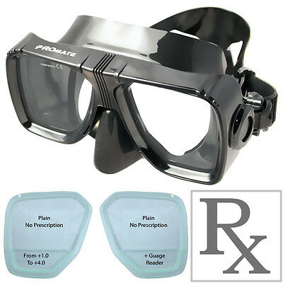 Full Face Snorkel Mask with Nearsighted Prescription Lens Water Sports Camera Mount Promate