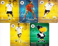 REWE DFB Sticker Sammelkarten WM 2010 -  5 Karten