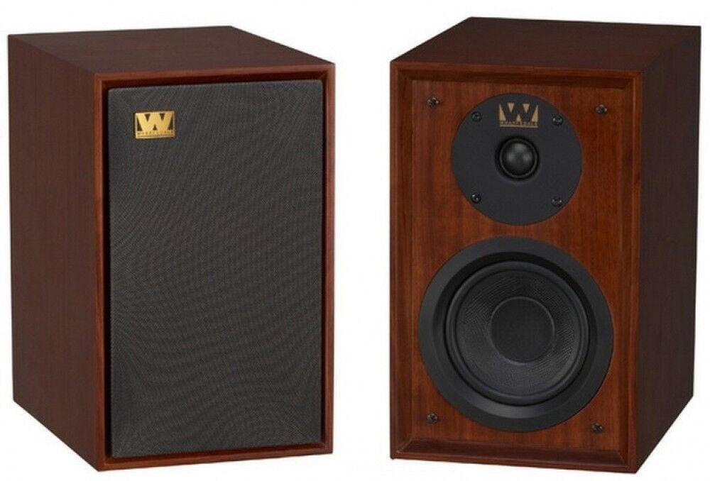 Wharfedale Denton Speakers Bookshelf Stereo Pair Home 80th Mahogany RRP