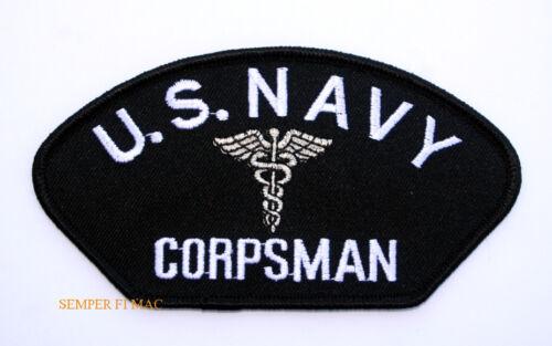 CORPSMAN HAT JACKET PATCH US NAVY MARINES DOC MEDIC FMF PIN UP USS USN CADUCEUS