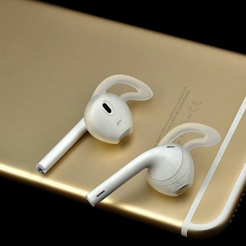 2 pairs Silicone Earpods Earbud Cover and Ear hook for