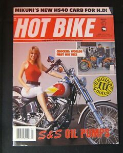 Hot Bike Magazine March 1989  Harley-Davidson Crocker Motorcycle