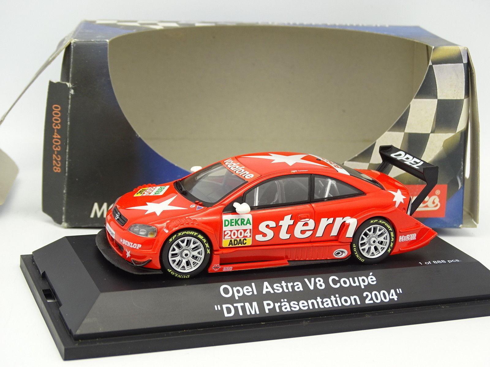 negozio di vendita outlet Schuco 1 43 - Astra Astra Astra Coupé V8 DTM Presentazione 2004  edizione limitata
