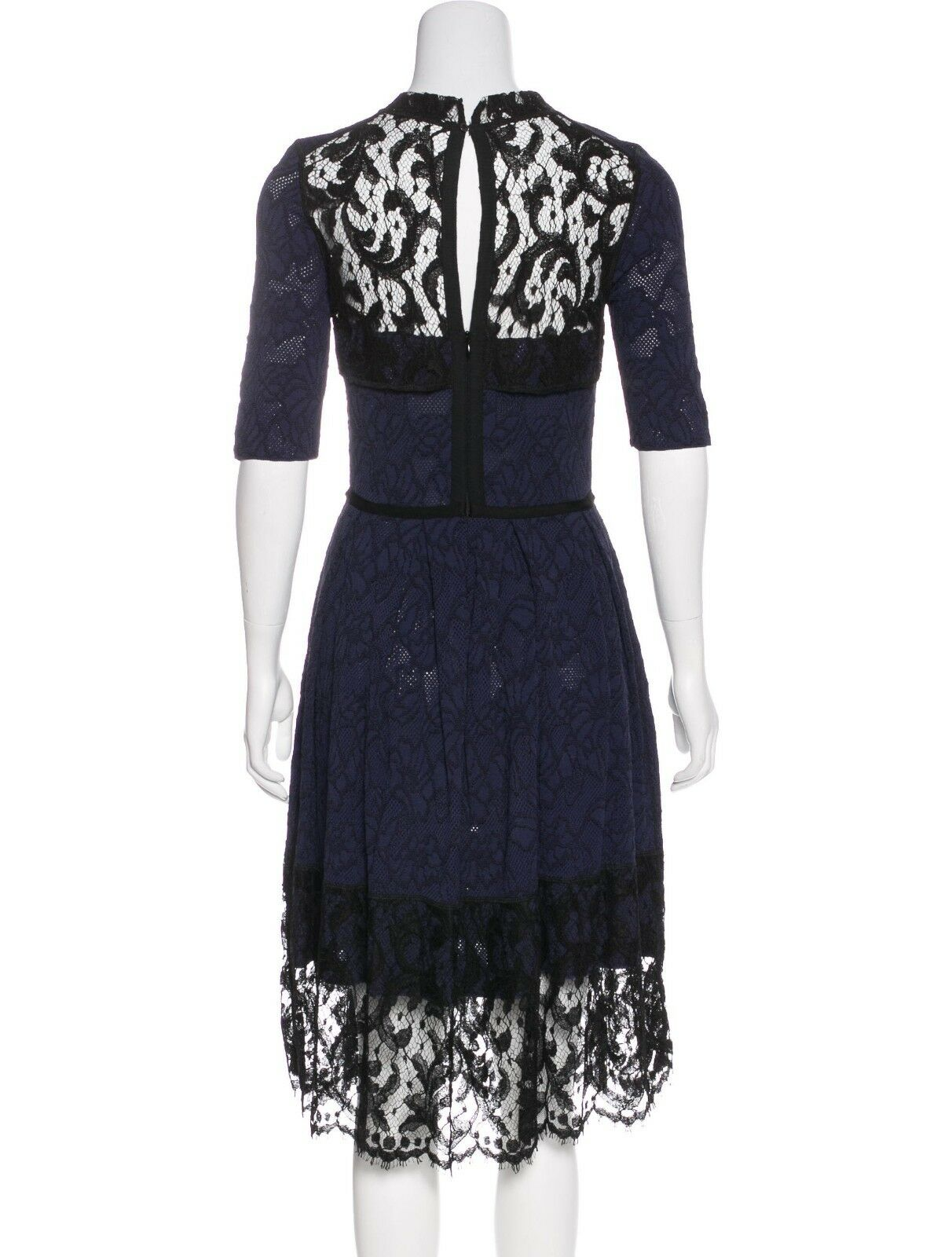 Oscar Oscar Oscar De La Renta bluee Lace & Knit dress 70a539