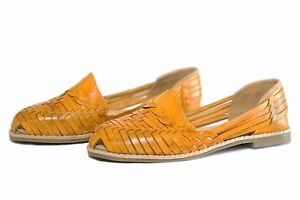 bfdf9757a13 WOMEN S Closed Toe Mexican Huarache Sandals - YELLOW - Leather ...