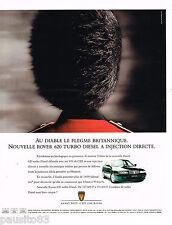 PUBLICITE ADVERTISING 065  1995  ROVER 620 TURBO DIESEL à INJECTION DIRECTE