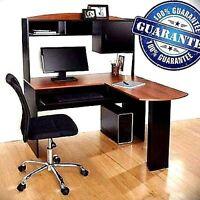 Corner Computer Desk L-shaped Workstation Laptop Home Office Student Furniture
