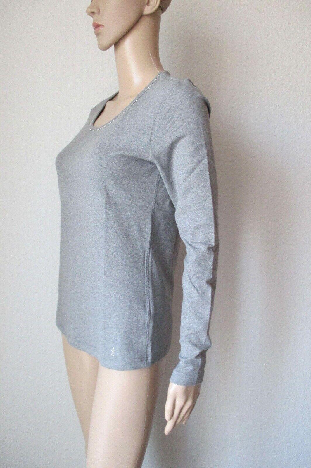 Efixelle Shirt mit Rundhals Ausschnitt, langarm, Farbe grau, Größe 40