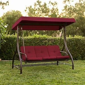Details About Converting Outdoor Swing Canopy Hammock Seats 3 Patio Furniture Shade Bed Yard