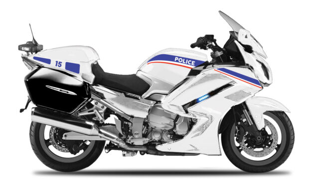 Yamaha FJR1300A Police White, maisto Motorcycle Model 1:18 , New, Boxed