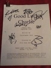 Good Luck Charlie Disney Cast Signed Script Coa