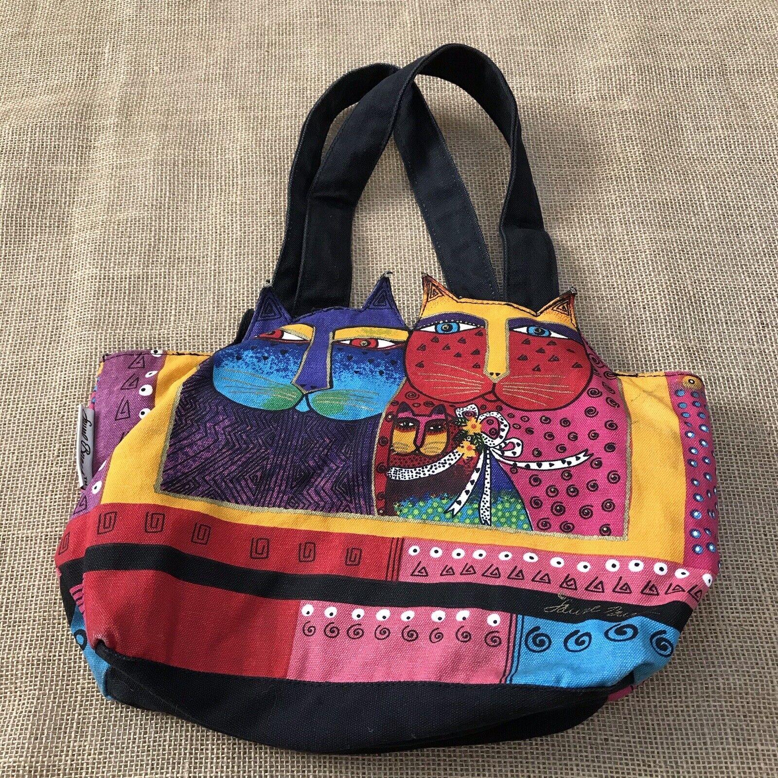 Laurel Burch Feline Cat Hand Bag Shoulder Bag Zip… - image 6