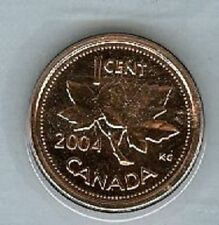 2004 Penny One Cent 1 ¢  '04 Canada-Canadian BU Coin UNC P Mark Maple Leaf