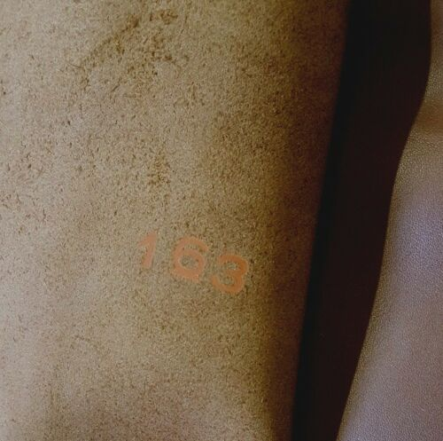 1.3mm thick. Dark Brown Italian Leather Hide 1.60m2-1.90m2