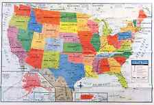 United States Wall Map Home School Office EBay - Us product map