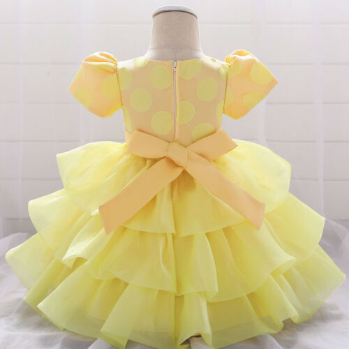 Infant Baby Girl Tutu Dress Summer Toddler Birthday Party Wedding Dress Clothes