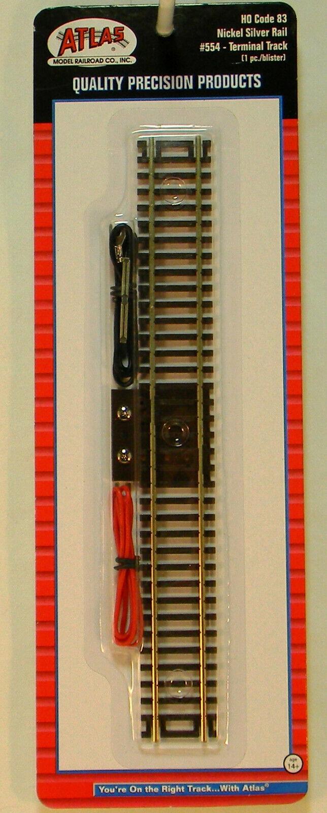 "Atlas HO Code 83 9/"" Straight Terminal Track w//Wire ATL554"