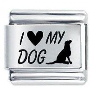 Property of my dog Italian Charm 9mm Classic Size