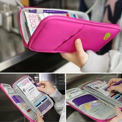 Travel Journey Fabric Passport ID Card Holder Case Cover Wallet Purse Organizer