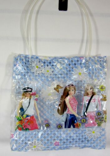 "11 X 11 X 3 /""  GIRL/'S TRANSPARRENT  BEACH BAG VINYL"