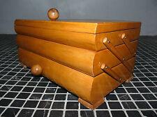 Nähkästchen Ziehharmonika Nähkasten Bauhaus Art Deco Buche Top