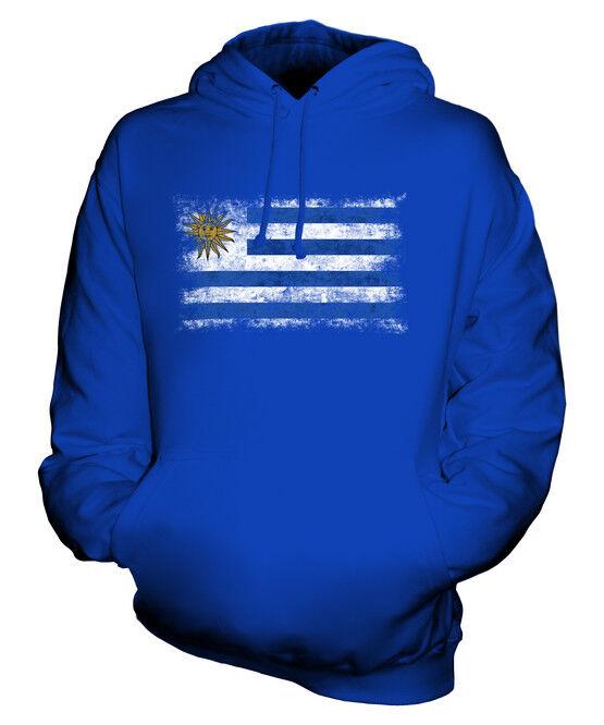 URUGUAY DISTRESSED FLAG UNISEX HOODIE TOP REPUBLICA ORIENTAL DEL URUGUAYAN