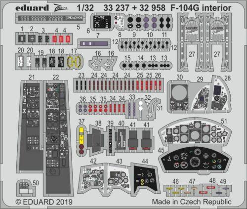 Eduard Zoom 33237 1//32 Lockheed F-104G Starfighter Italeri