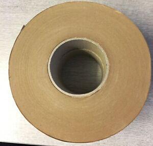 2x Masterline Gummed Paper Tape Brown Gummed Side Out 60mu 50mm x 200M 76mm Core