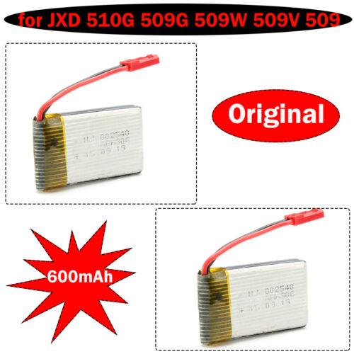 2pack 3.7V 600mAh Battery For JXD 509G 510G 509W FPV RTF RC Quadcopter Drone UFO