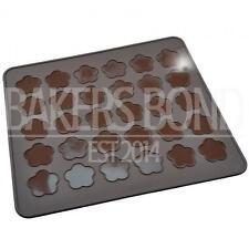 30 Flor cavidad de silicona para hornear macarones Macaroon Mat Horno Hornear Forro Hoja Cookies