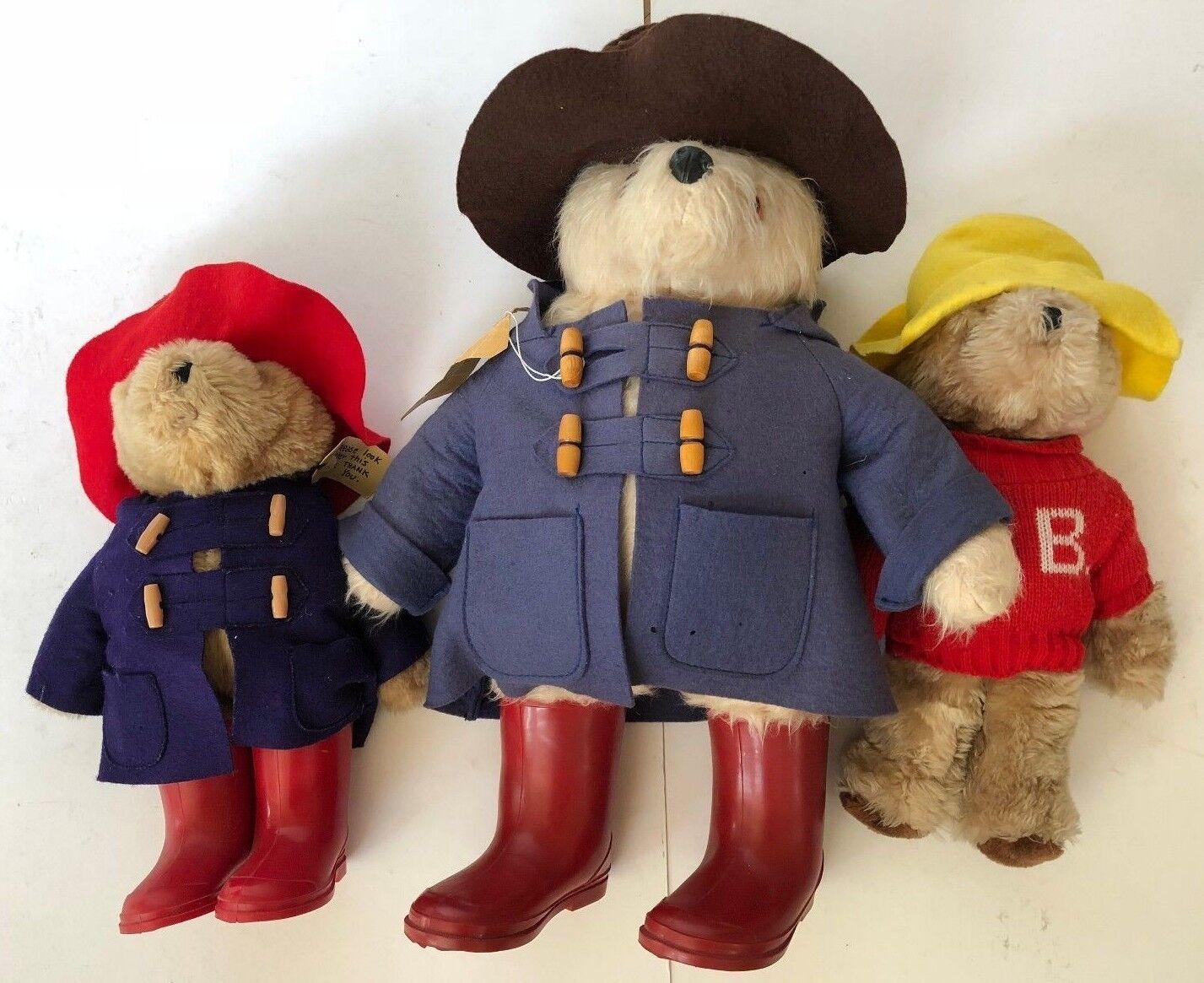 Vtg 1980 1981 Paddinton teddy bear ROT Stiefel Darkest Peru 20