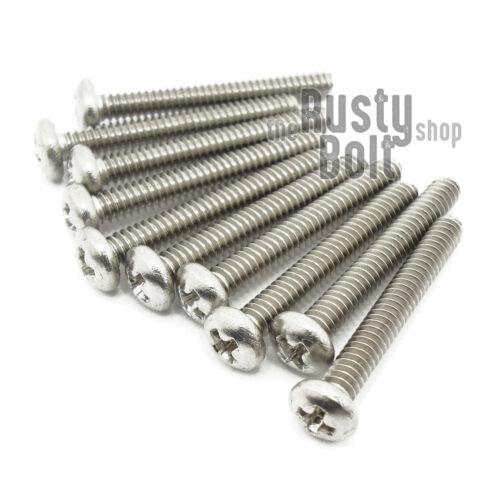 "Stainless Steel Phillips Pan Head Screws A2 304 18-8 #4-40 x 7//8/"""