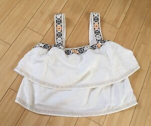 Mod Xs shirt 0 2017 Womens geborduurd Madewell Top Designer tier maat FYqC4FZ