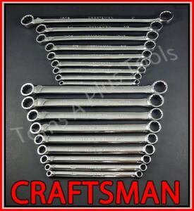 De S About Craftsman Tools 18pc Full Polish Double Box End Sae Metric Mm Inches Wrench Set