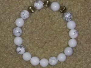 Handmade-Natural-Gemstone-Round-Beads-Stretch-Bracelet-Bangle-7-034