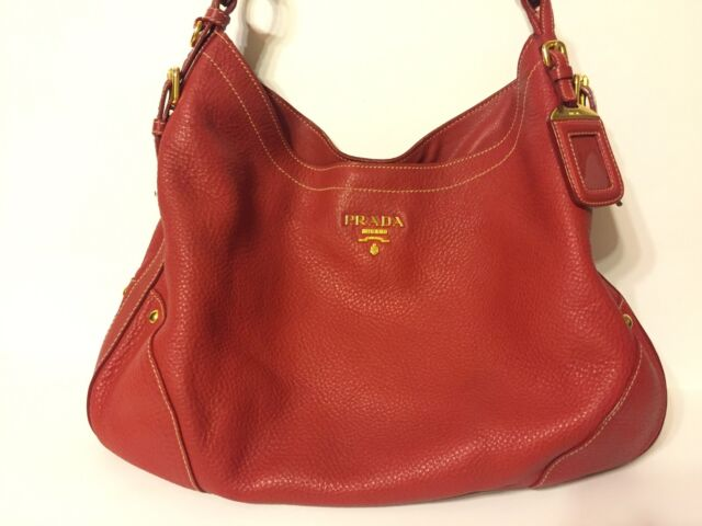 3b7a0cf4bec4 Pre-owned PRADA Shoulder Bag (red Leather) for sale online | eBay