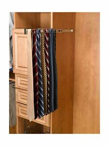 Rev-A-Shelf-TRC-14CR-14-in-Chrome-Pull-Out-Side-Mount-Tie-Rack