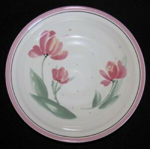 Image Is Loading International Tableworks 026 TRIO Pink Flower Soup Bowl