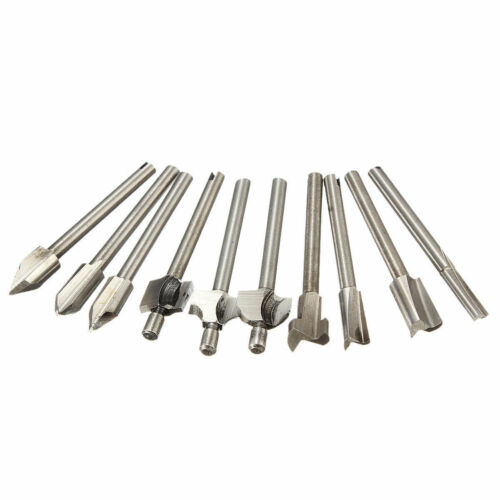 "10Pcs Mini HSS Router Bits Trimmer Shank Dremel 1//8/"" 3mm For Dremel Rotary Tool"